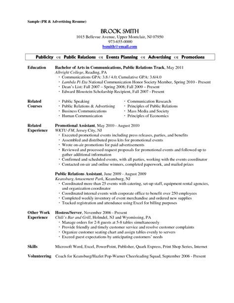server responsibilities resume inspiredshares