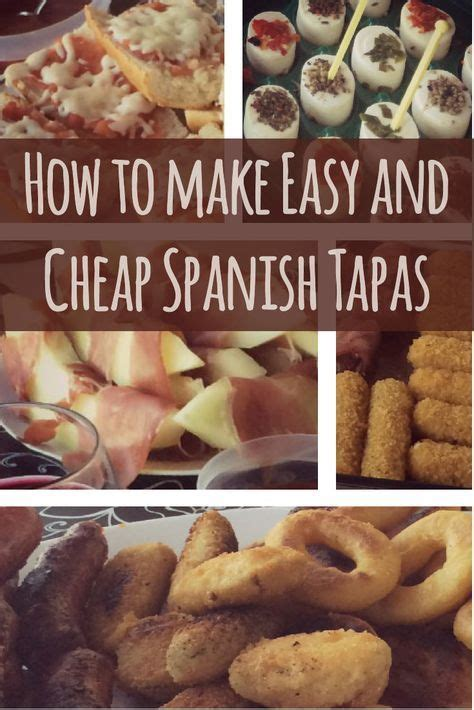 cheap  easy spanish tapas spanish tapas tapas dishes tapas recipes