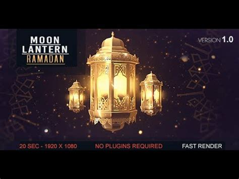 template after effects ramadan after effects template lantern moon ramadan ident youtube