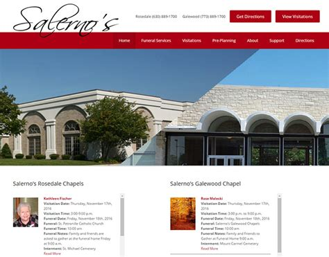 100 best funeral home website designs