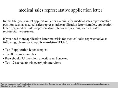 application letter sle representative sales representative application letter