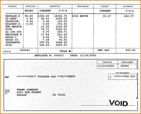 free paycheck stubs templates update 40717 paycheck stub template free 38 documents
