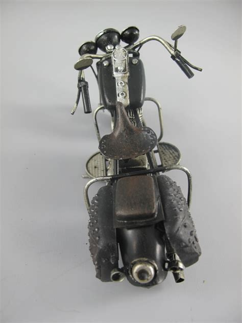 Motorrad Deko by Deko Motorrad Retro Metallfigur Schwarz Silber 20 Cm