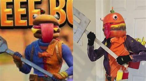 diy fortnite durrr burger beef boss costume youtube
