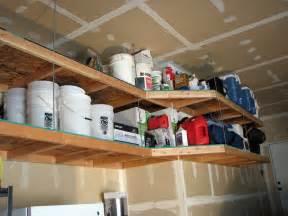 diy hanging garage shelves diy hanging wood shelves ceiling overhead storage ideas