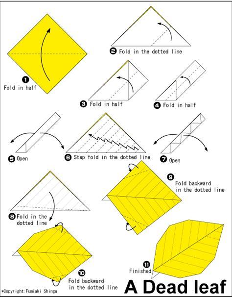 tutorial origami daun cara membuat origami daun mati cantik dan menarik cara