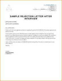 Decline Letter To Candidate 9 Rejection Letter Sle Writable Calendar