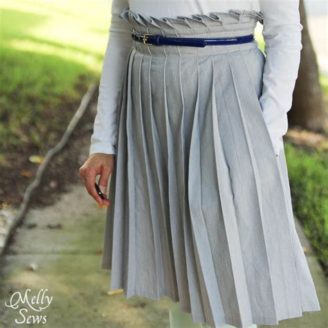 How To Make Paper Skirt - pleated paper bag waist skirt tutorial melly sews