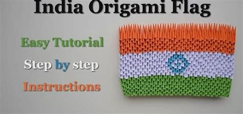 How To Make Paper Flags - how to make india origami flag easy tutorial step by