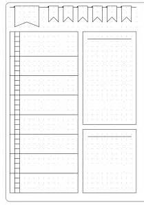 Journal Templates by Simple Weekly Layout Template Kate Louise