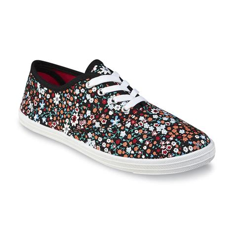 flower print sneakers basic editions s black multicolor floral print