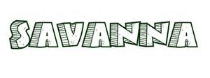 coloring page first name savanna