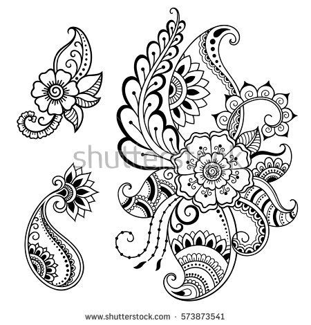 set of floral vector patterns royalty free stock images image 20201649 set mehndi flower pattern henna drawing stock vector royalty free 573873541