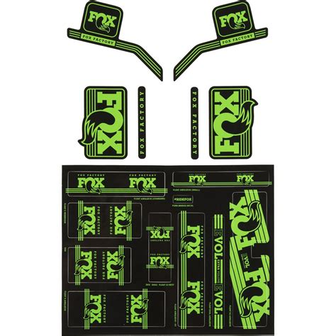 Racing Sticker Kit by Fox Racing Shox Heritage Fork And Shock Decal Kit
