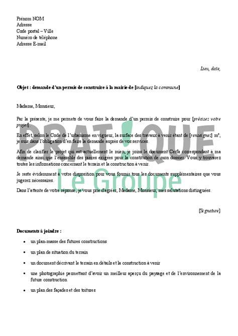 Exemple De Lettre R Ponse A Une R Clamation Client lettre demande autorisation mairie