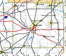 Wooster Ohio Map by Wooster Ohio Oh 44691 Profile Population Maps Real