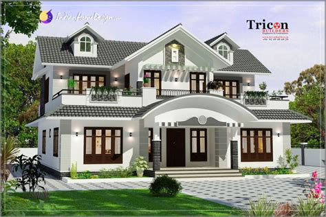 style homes plans 2786 sq ft 4 spacious bedroom marvelous kerala designer