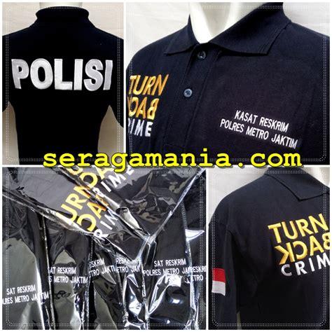 Jaket Reskrim baju seragam turn back crime kaos kerah mutiah laksana sport
