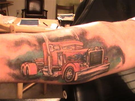 trucker tattoo designs big rig anyone awesome trucking www