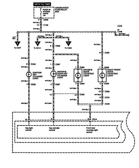acura legend 1994 1995 wiring diagram interior