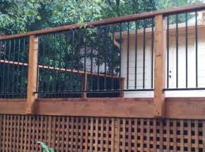 Metal Porch Pickets Metal Railings For Decks Cedar Deck With Metal Railing