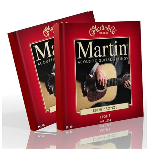 martin light strings martin acoustic strings light bronze m140 2 sets your