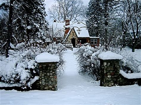 the snowy cottage home the cottage