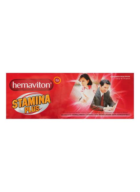 Vitamin Hemaviton Hemaviton Vitamin For Stamina Plus 5 S Str Klikindomaret