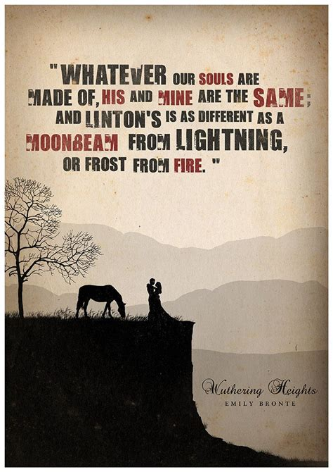 theme quotes from wuthering heights wuthering heights literature poster quote poster by