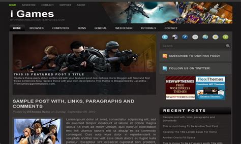 templates blogger for games i games free blogger template