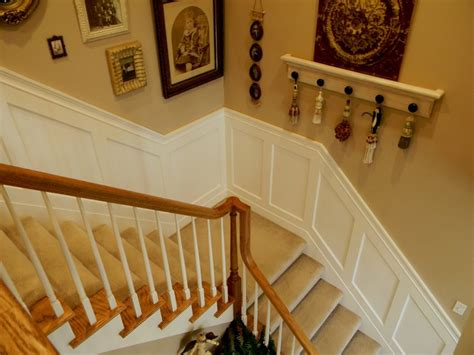 Diy Wainscoting Stairwell board and batten project trim board and batten pictures on stairs and wainscoting