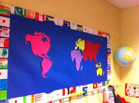 flags of the world display the beginning of our quot around the world quot themed display the