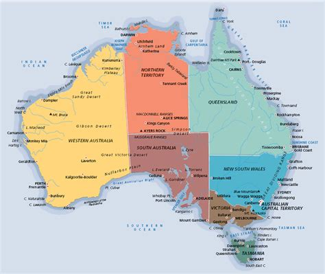 map of australia showing major cities maps page on australia