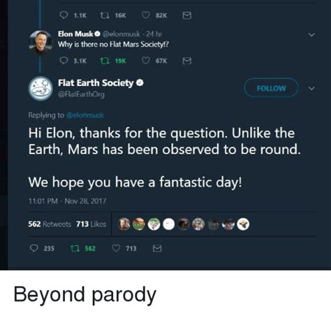 elon musk flat earth society elon musk 24 hr why is there no flat mars society flat