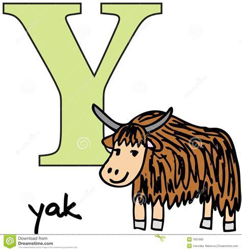 Guarantee Letter O Que é Alfabeto Animal Y Iaques Foto De Stock Imagem 7607990