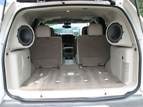 Cool Looking Speakers custom enclosures for escalade yukon or tahoe