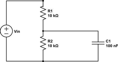 resistor capacitor voltage divider charging a capacitor parallel to a resistor electrical engineering stack exchange