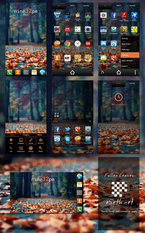 go launcher themes to download fallen leaves go launcher ex theme by gseth on deviantart