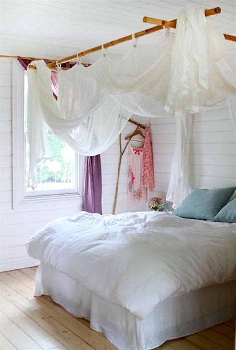 diy bedroom canopy artsy ways to hang room curtains