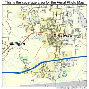 aerial photography map of crestview fl florida
