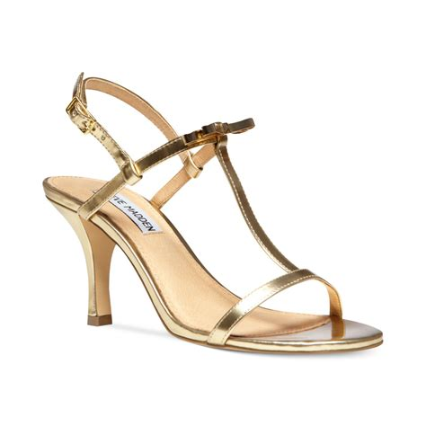 madden sandals steve madden womens dussty sandals in metallic lyst