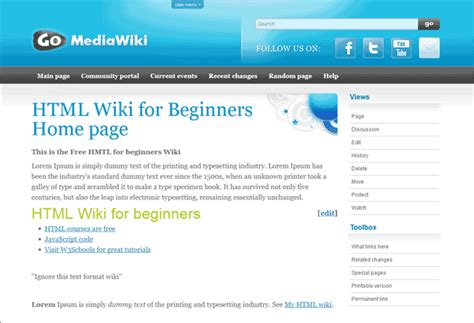 mediawiki template how to change mediawiki skins inmotion hosting