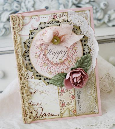 Shabby Chic 5595 280 best die cut flower cards images on craft