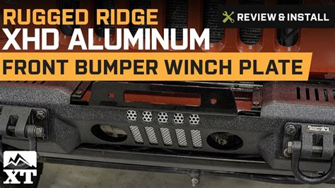 rugged ridge winch plate jeep wrangler rugged ridge xhd aluminum front bumper winch plate 2007 2017 jk review install