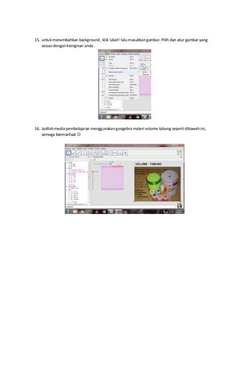 tutorial membuat video pembelajaran tutorial membuat media pembelajaran geogebra materi volume