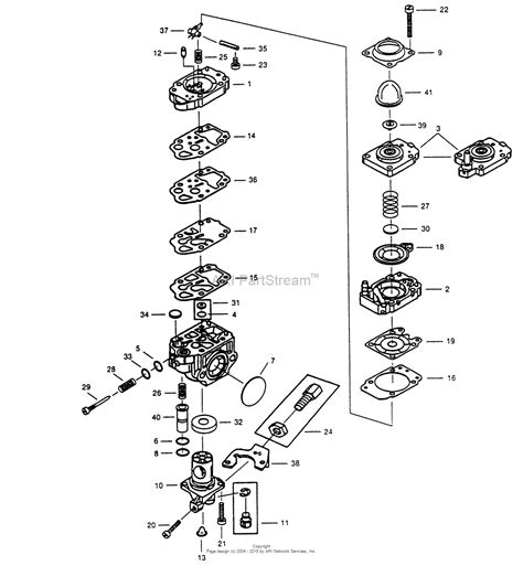 walbro carb diagram walbro carburetor wyk 131 1 parts diagram for wyk 131 1