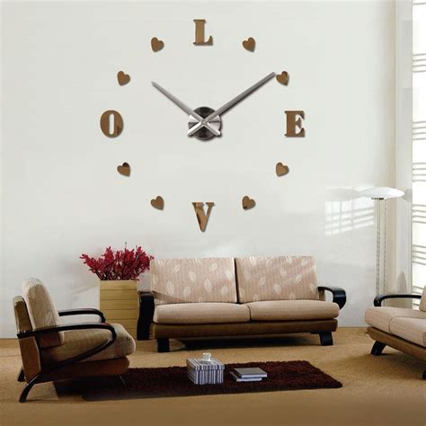 living room wall clock smileydot us 2017 new 3d wall clock digital wall clock fashion living