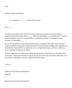 End Contract Business Letter 16 Notice Letters Free Premium Templates