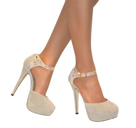 size 3 high heels womens strappy glitter platform high stiletto court shoe