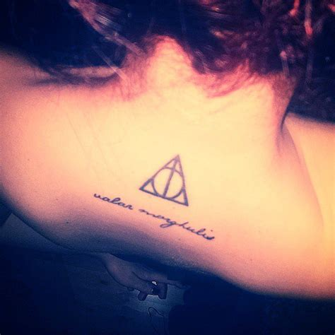valar morghulis tattoo valar morghulis with a harry potter deathly hallows symbol